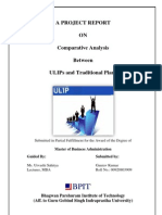 Project-Comparative Analysis of ULIPs With Traditional Plans