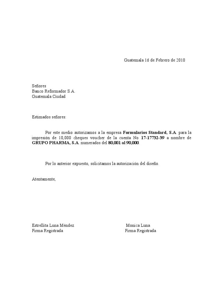 Carta solicitud de cheques bancor for Solicitud de chequera