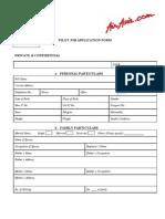 Borang Pilot Sebenar ( Air Asia )