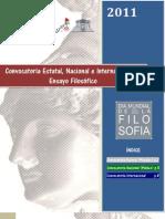 CONVOCATORIA Estatal, Nacional e Internacional ENSAYO Filosofico 2011