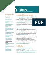 Shadac Share News 2011jul25
