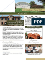 Hannibal Country Club August Newsletter