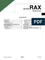 Rax Rear Axle