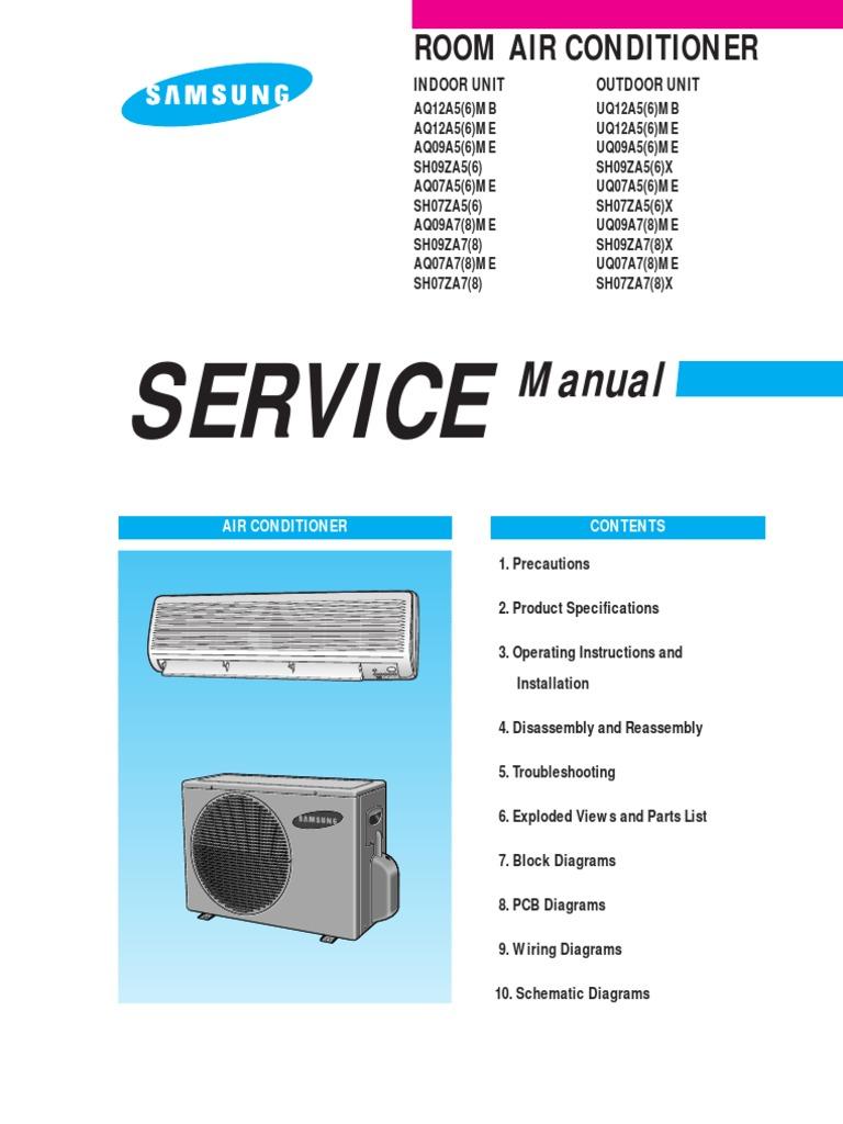 Samsung Service Manual | Air Conditioning | Hvac