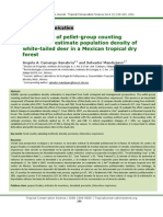 Comparison of pellet-group counting methods to estimate population density of white-tailed deer in a Mexican tropical dry forest