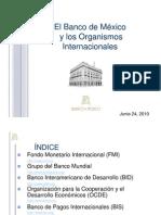 Banco de Mexico y Organismos Internacionales