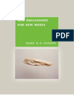 HANSEN, Mark. New philosophy for new media