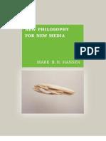 HANSEN, Mark. New philosophy for new media