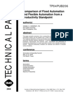Comparison of Fixed Automation