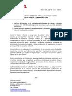 Primera empresa en firmar convenio de páracticas de cobranza éticas 27 enero 2010