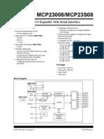 MCP23008/MCP23S08 8-Bit I/O Expander with Serial Interface - 21919e