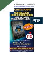 Correlación Código de la Producción y el Reglamento de Facilitación Aduanera Tomo II