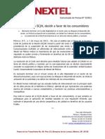 020511 Boletín Nextel IXC SCJN