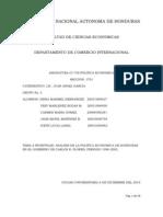 ANÁLISIS DE LA POLÍTICA ECONÓMICA DE HONDURAS EN EL GOBIERNO DE CARLOS ROBERTO FLORES periodo 1998