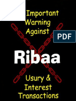 An Important Warning Against Riba Usury and Interest Transactions