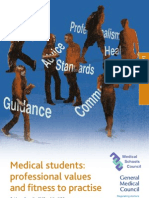 Medical Students Professional Values and Fitness to Practise