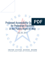 Proposed Accessibility Guidelines for Pedestrian Facilities in the Public Right-of-Way,  July 26, 2011