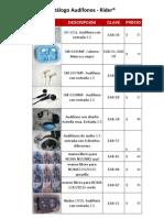Catálogo Audífonos- Rider