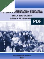 TUTORÍA Y ORIENTACIÓN EDUCATIVA Basica Alternativa
