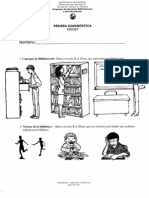 Prueba Diagnostica Sobre Destrezas Bibliotecarias - Kinder