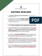 Mauricio Macri - Mentiras Develadas