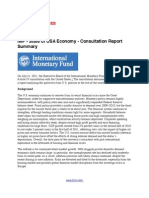 IMF - Current Status of USA Economy - Consultation Report Summary