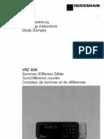 Manual Heidehain Vrz406