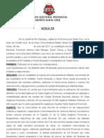 INTERNAS 2011. Acta 176-JEP Escrutinio Definitivo