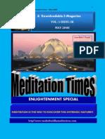 Meditation Times May 2008 Taoshobuddha