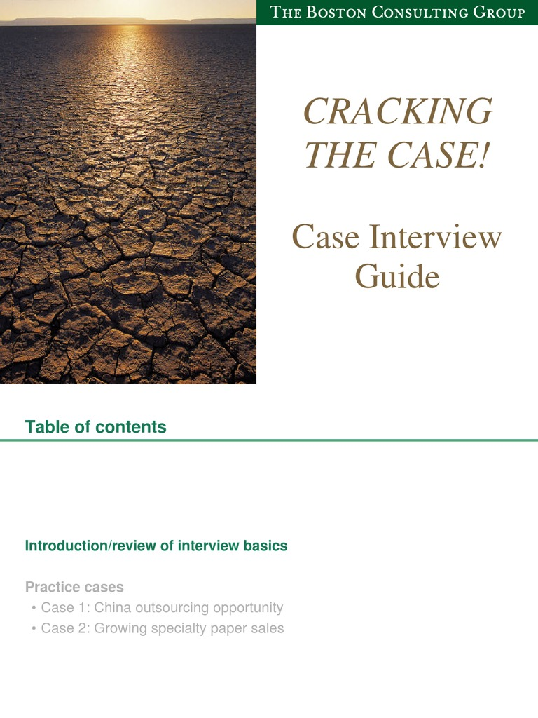 bcg case interview guide 2 bcg type cases