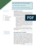 Newsletter 1. Section 10 Divison 12 APA