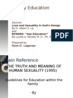 Family Catechesis 2011 on Sexuality Education (1)