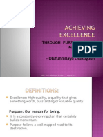 Achieving Excellence Through Purpose Driven Management