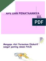 PAUD - APE dan penataannya