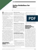 Hospital Admission Guidelines for DM