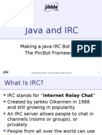 Making a Java IRC Bot With The PircBot Framework