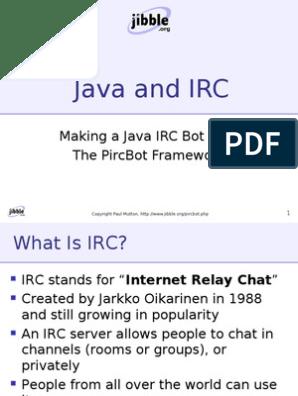 Making a Java IRC Bot With The PircBot Framework | Internet