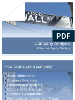 Company Analysis Presentation - Updated