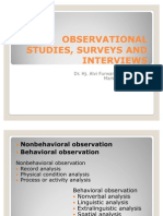 Vi. Observational Studies, Surveys and Interviews