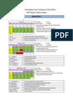 Kalender Pendidikan Tahun Pelajaran 11 - 12 b