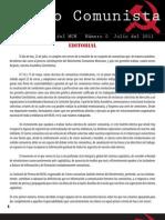 Correo Comunista. [Boletín Interno del MCM, N. 0, Julio del 2011]