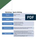 Workshop Sports