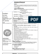 sharjeel cvcivil engineer - Bridge Engineer Sample Resume