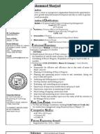 sharjeel cvcivil engineer - Civil Engineer Resume