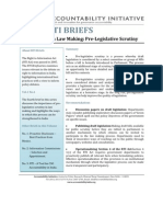 RTI Brief No. 4 - Pre - Legislative Scrutiny