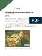 Afghanistan Weekly War Update Raid on a Haqqani Camp