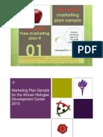 Non Profit African Refugee Development Center Marketing Plan