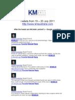 KM Australia 2011 Tweets