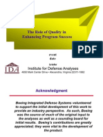 The Role of Quality in Enhancing Program Success