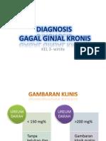 Diagnosis Gagal Ginjal Kronis